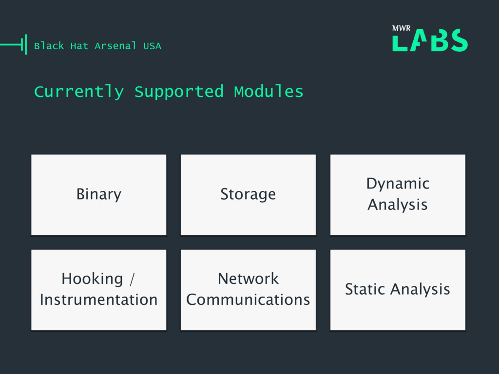 Currently Supported Modules Black Hat Arsenal U...