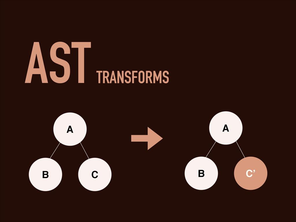 AST TRANSFORMS A B C A B C'