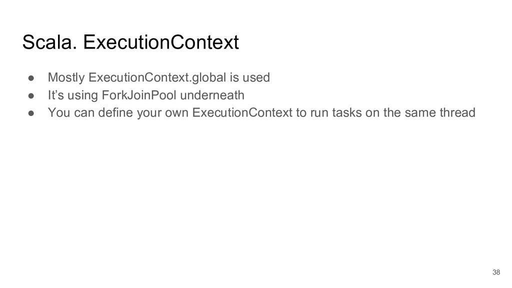Scala. ExecutionContext ● Mostly ExecutionConte...