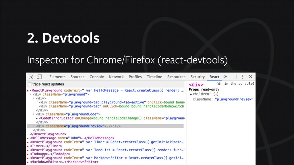 2. Devtools Inspector for Chrome/Firefox (react...