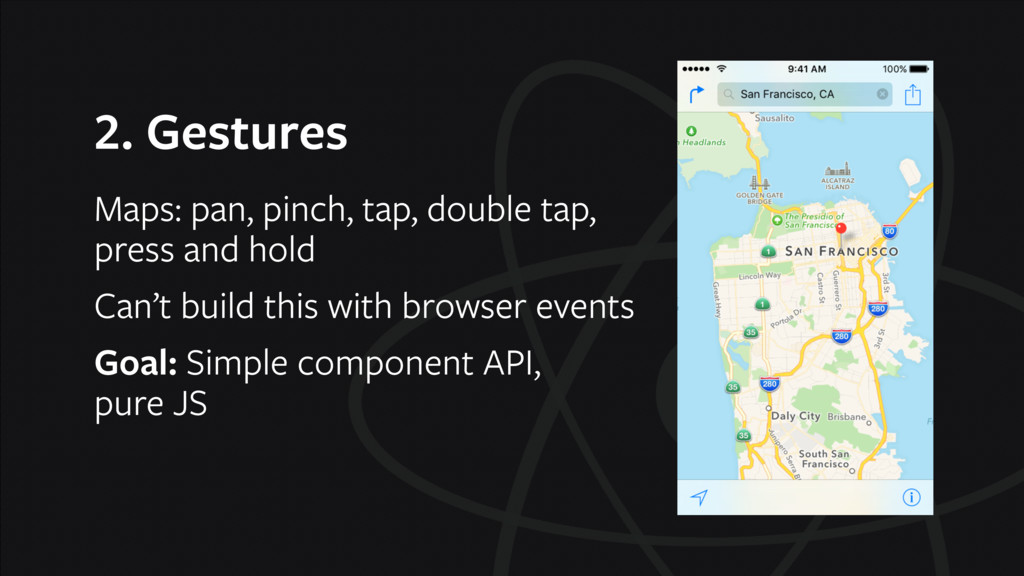 2. Gestures Maps: pan, pinch, tap, double tap,...