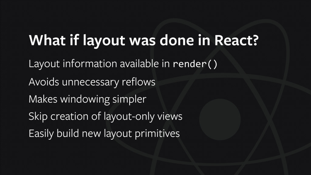 What if layout was done in React? Layout inform...