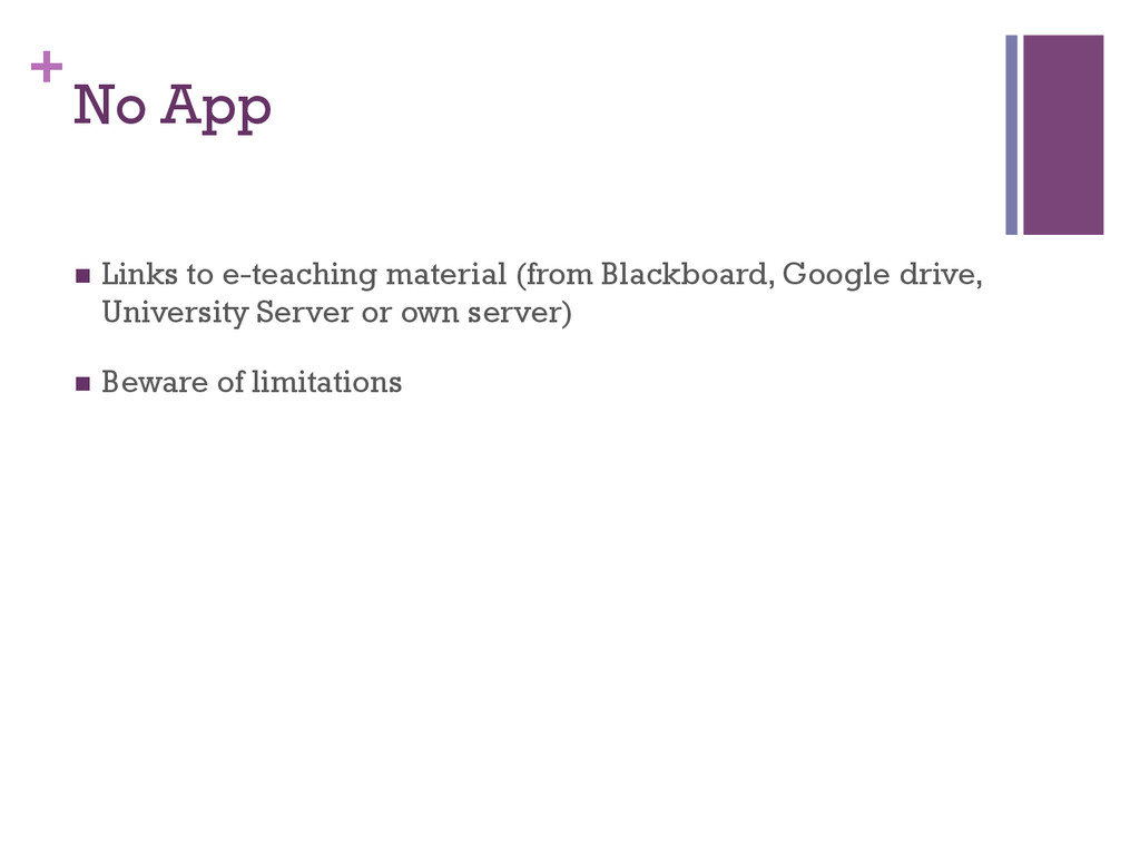 + No App n Links to e-teaching material (from...