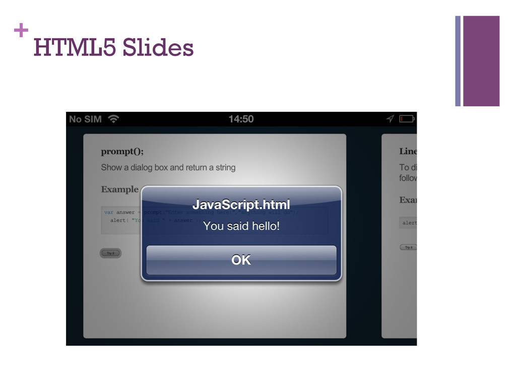 + HTML5 Slides