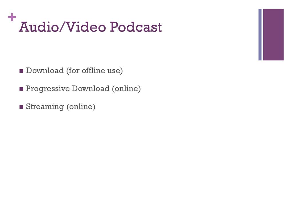 + Audio/Video Podcast n Download (for offline...