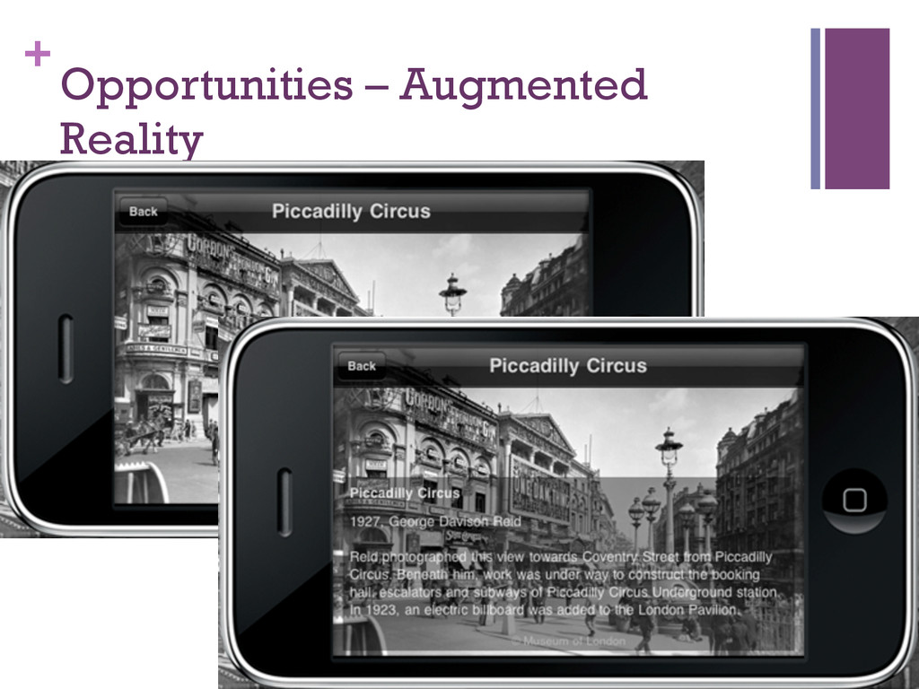 + Opportunities – Augmented Reality