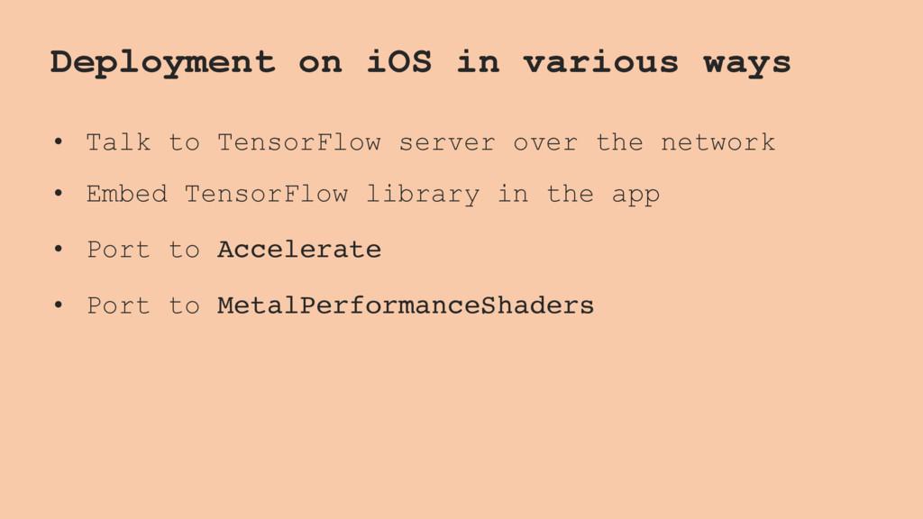 Deployment on iOS in various ways • Talk to Ten...