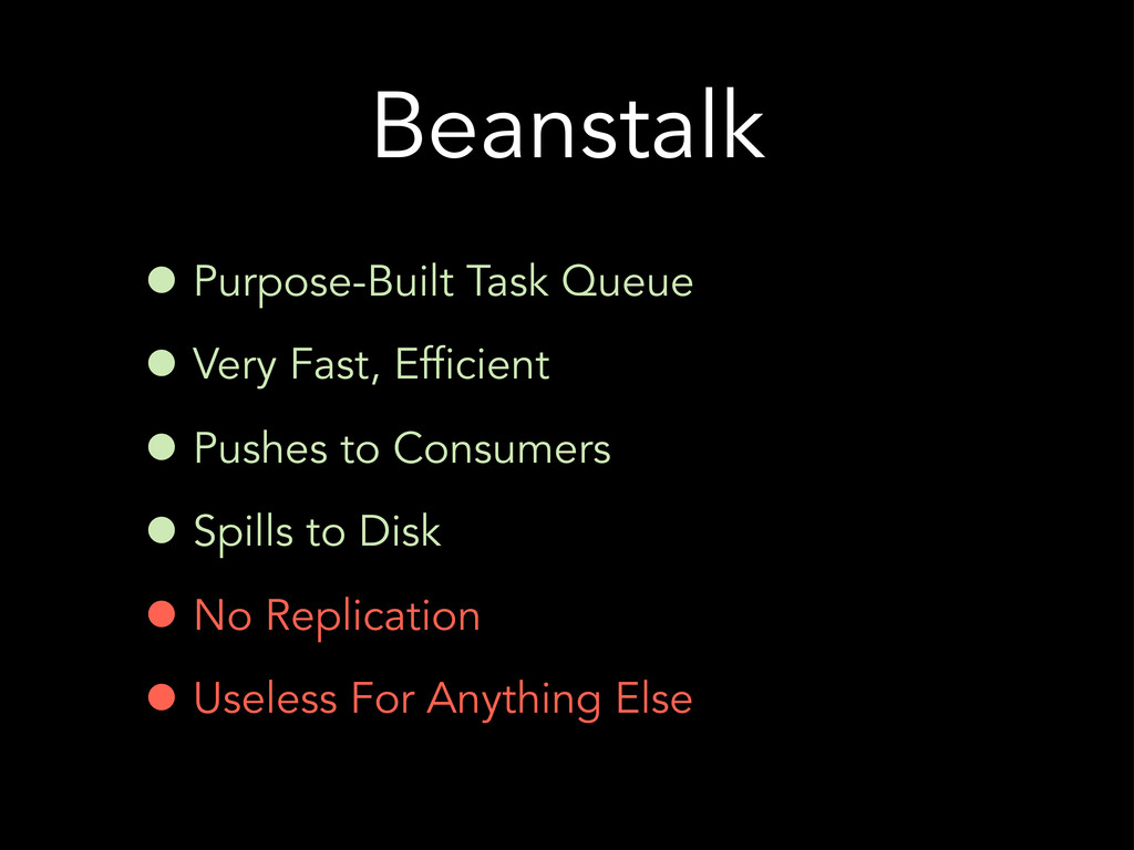 Beanstalk • Purpose-Built Task Queue • Very Fas...