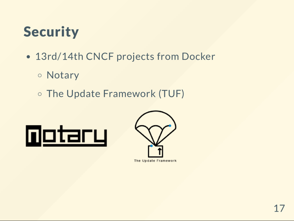 Security 13rd/14th CNCF projects from Docker No...