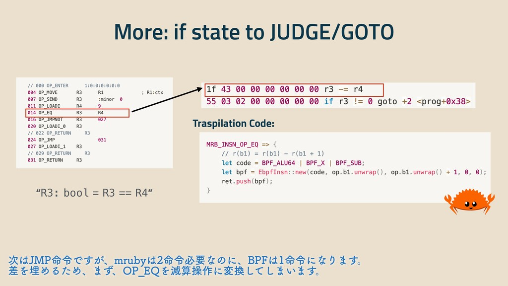 """More: if state to JUDGE/GOTO """"R3: bool = R3 == ..."""