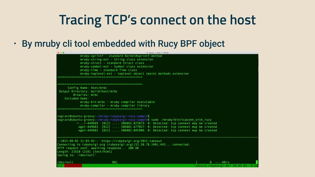 Tracing TCP's connect on the host • By mruby cl...