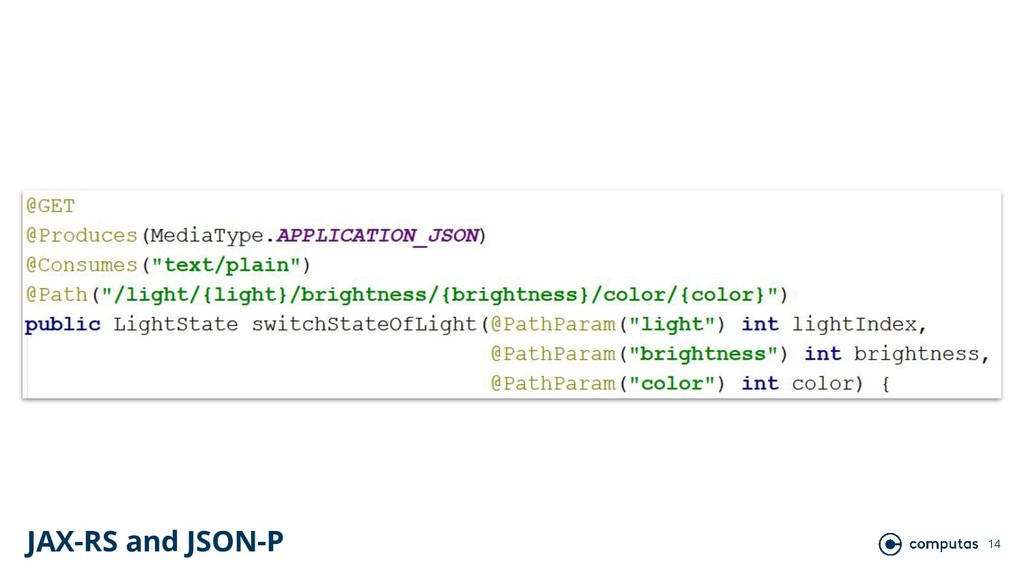 14 JAX-RS and JSON-P