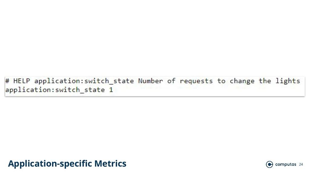 24 Application-specific Metrics