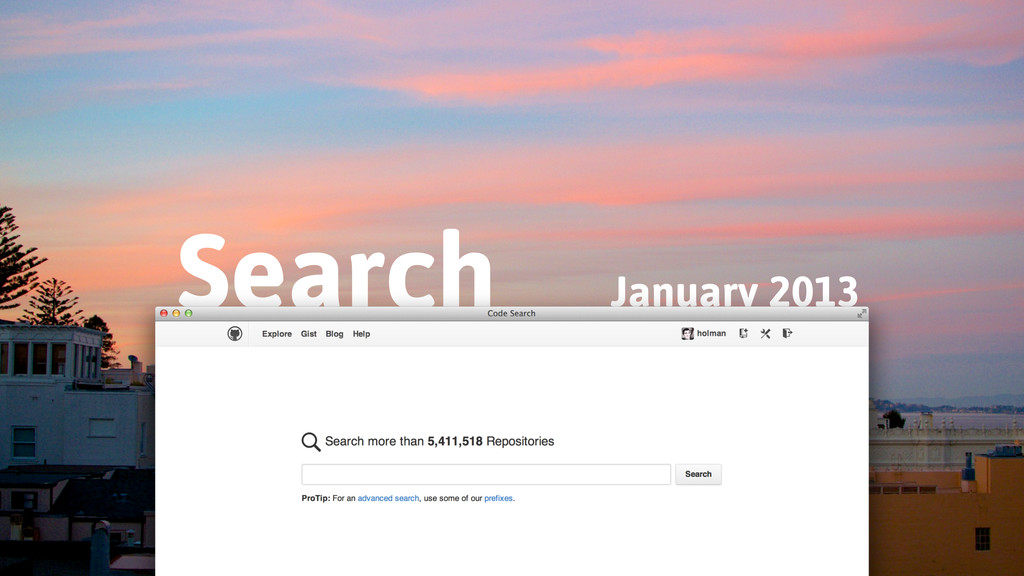 January 2013 Search