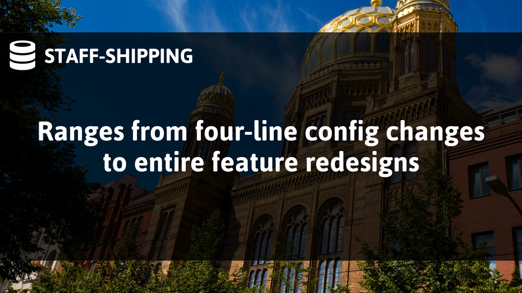 STAFF-SHIPPING Ranges from four-line config ch...