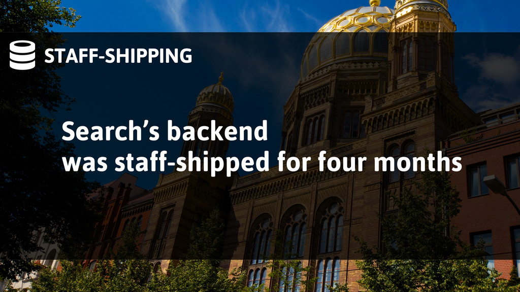 STAFF-SHIPPING Search's backend was staff-ship...