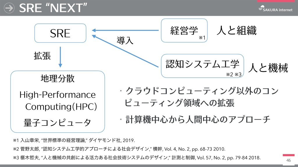 "46 SRE ""NEXT"" SRE 地理分散 High-Performance Computi..."