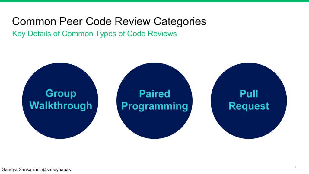3 Common Peer Code Review Categories Key Detail...