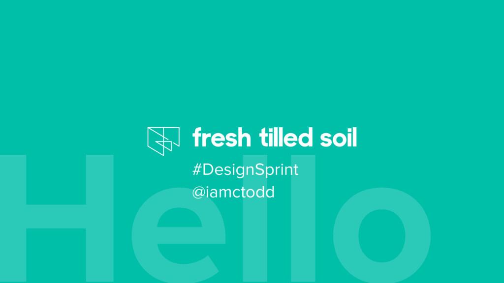 Hello #DesignSprint @iamctodd