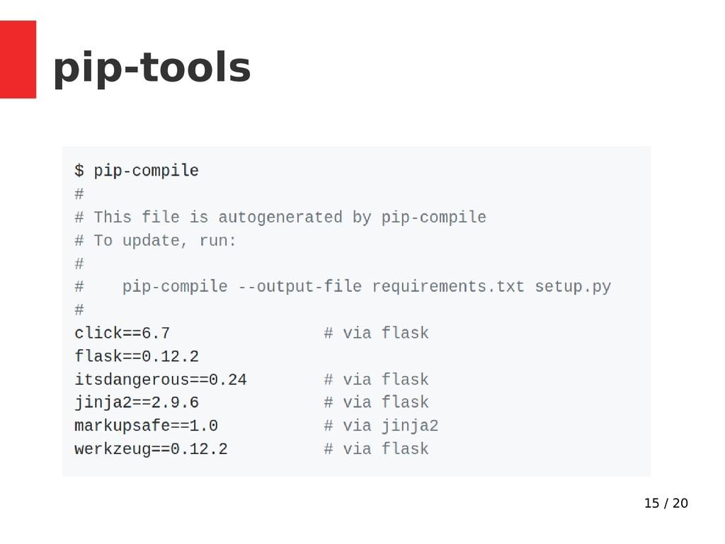 15 / 20 pip-tools