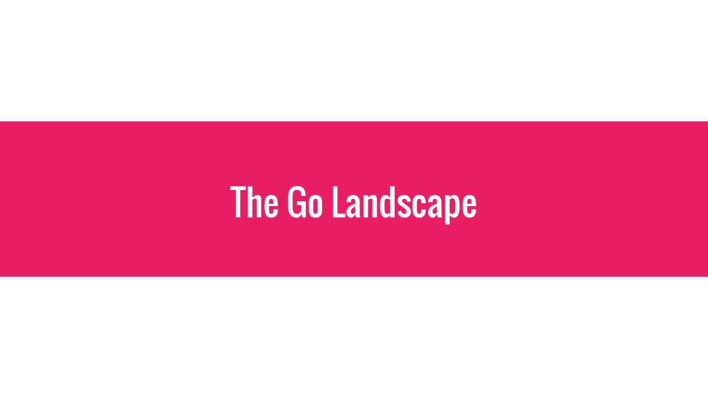 The Go Landscape