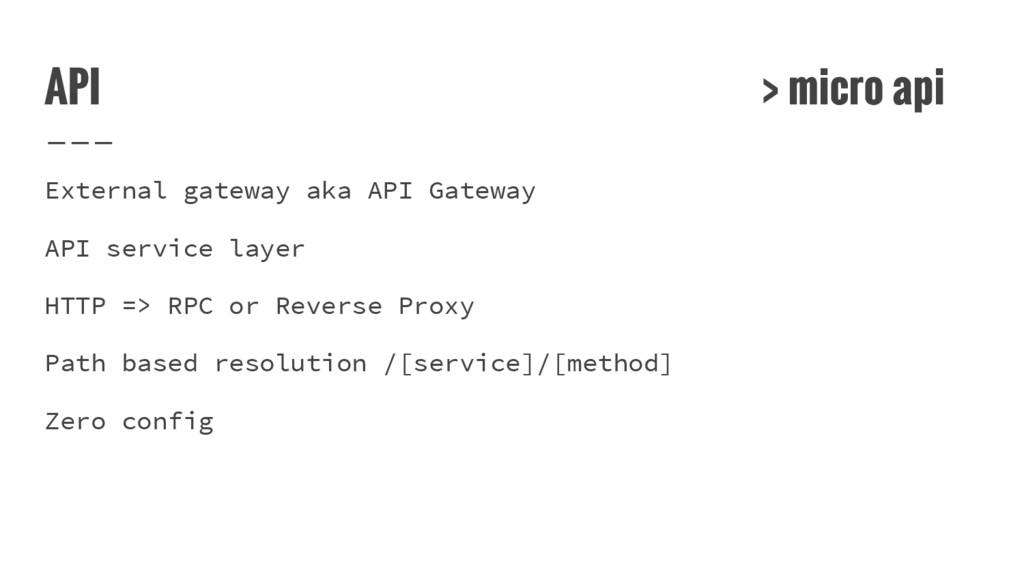 API > micro api External gateway aka API Gatewa...