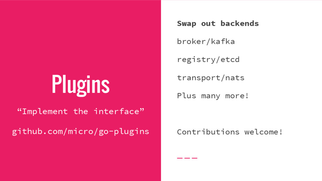 """Plugins """"Implement the interface"""" github.com/mi..."""