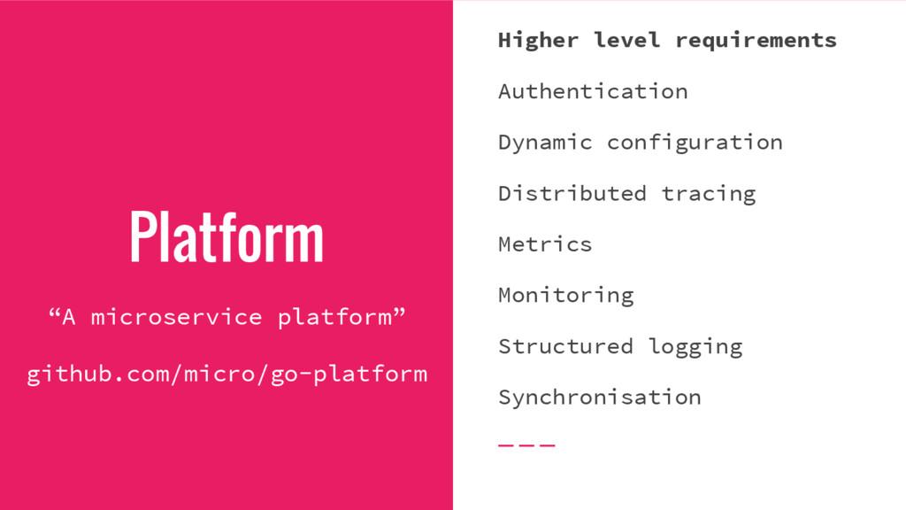 """Platform """"A microservice platform"""" github.com/m..."""
