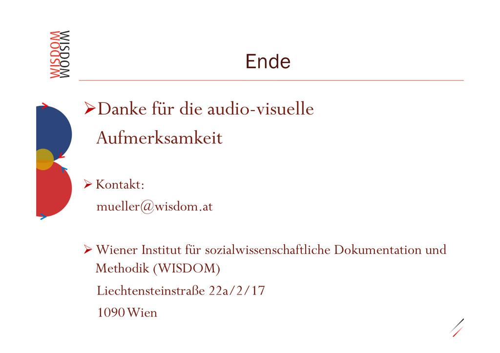 """0.29""""25 Ende ØDanke für die audio-visuelle Au..."""