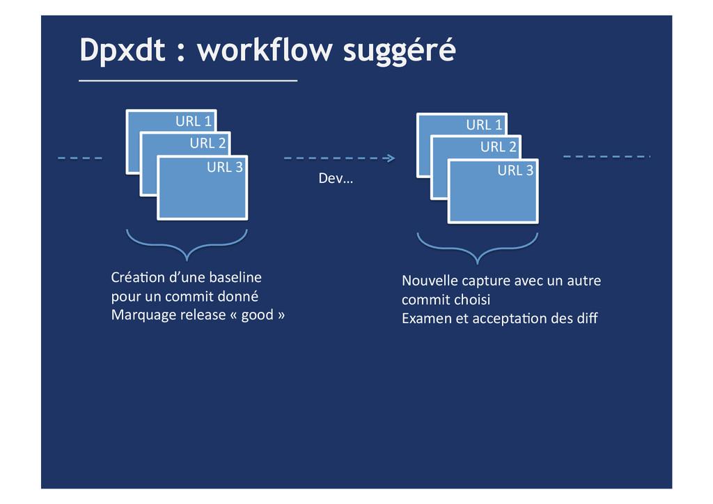 Dpxdt : workflow suggéré URL 1  URL 2...