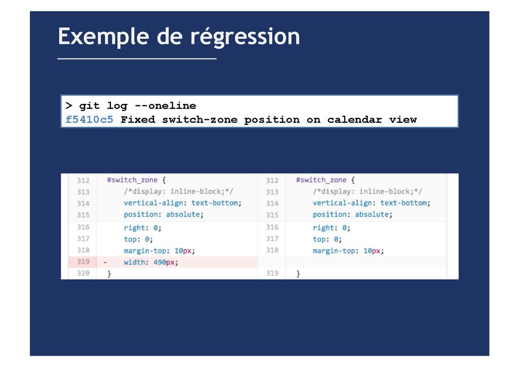 Exemple de régression > git log --oneline f5410...