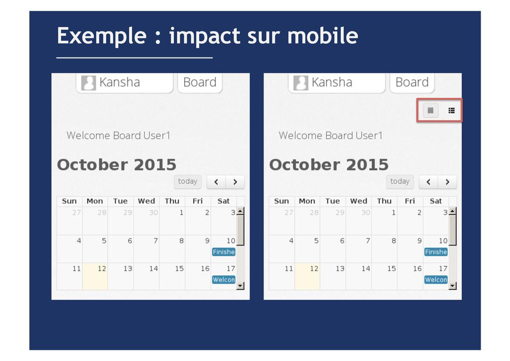 Exemple : impact sur mobile