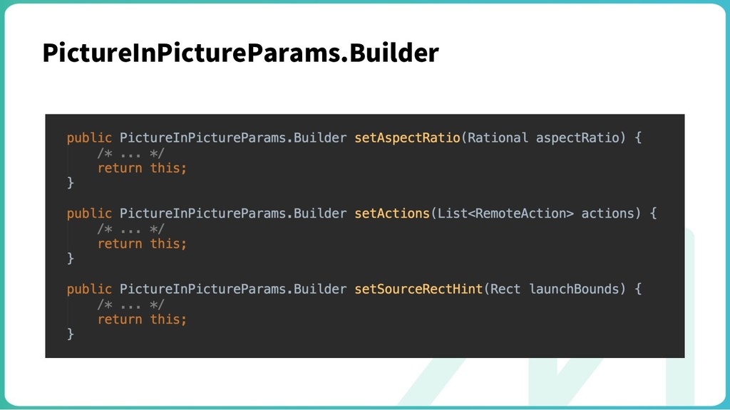 PictureInPictureParams.Builder