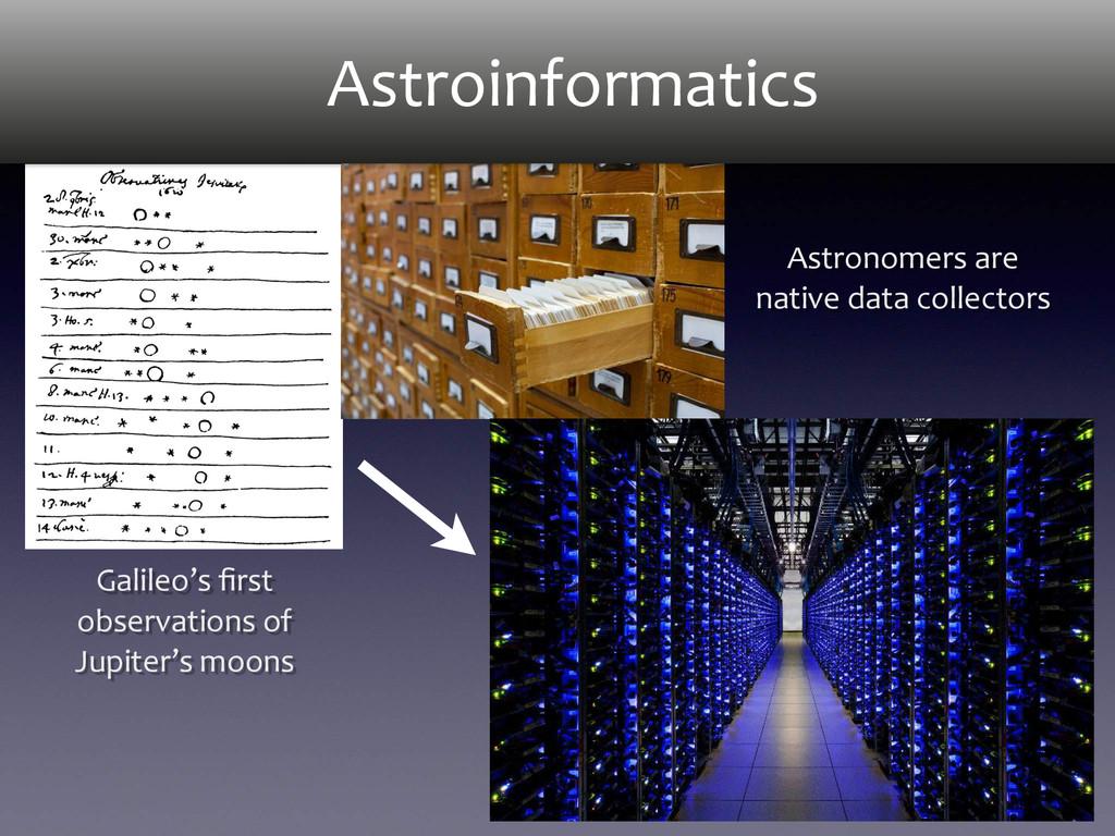 Astroinformatics Galileo's first  observat...