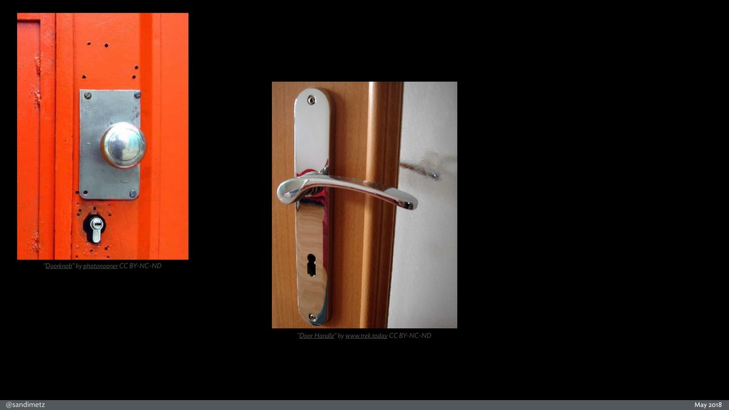 "@sandimetz May 2018 ""Doorknob"" by photonooner C..."