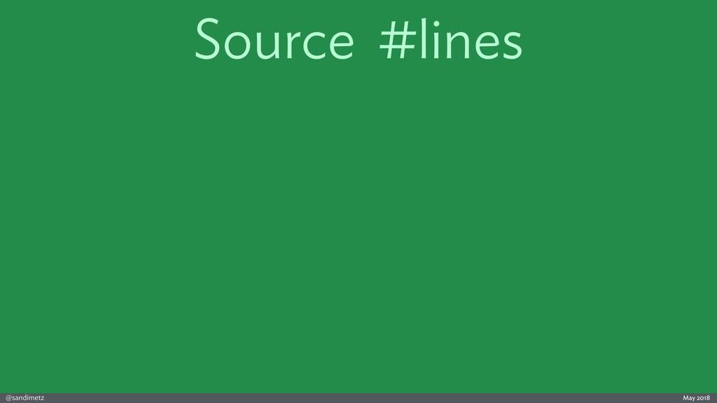 @sandimetz May 2018 Source #lines