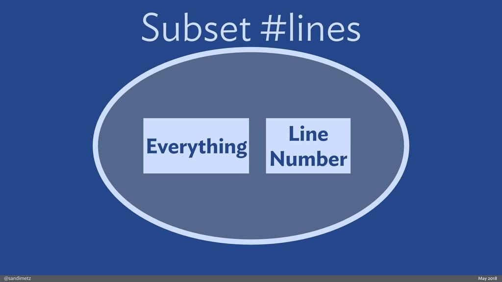 @sandimetz May 2018 Subset #lines Everything Li...