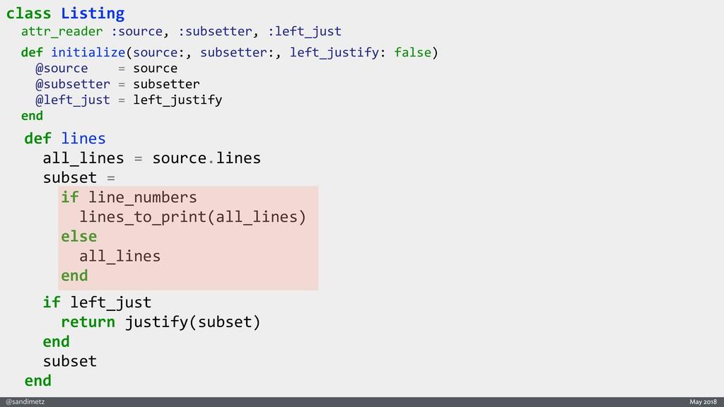 @sandimetz May 2018 class Listing attr_reader :...