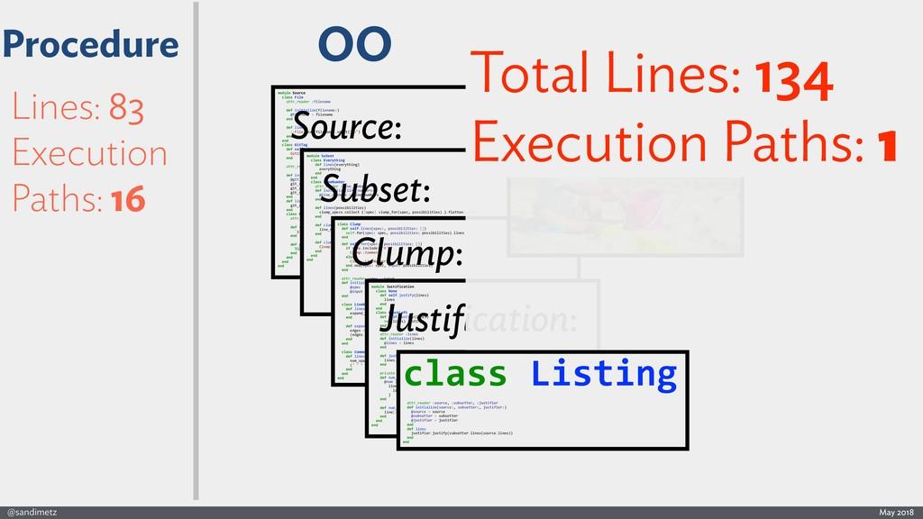 @sandimetz May 2018 Lines: 83 Execution Paths: ...