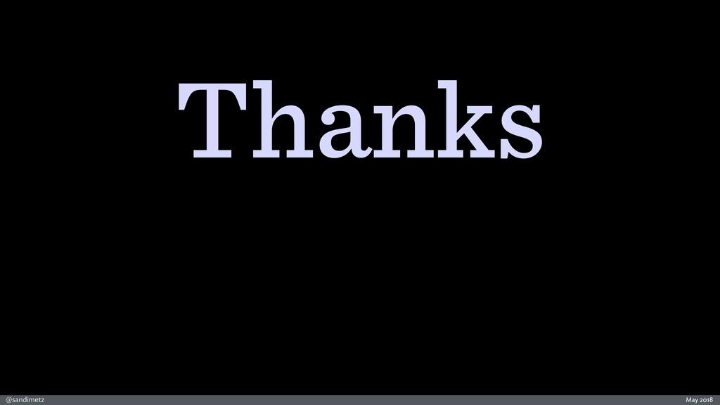 @sandimetz Thanks May 2018