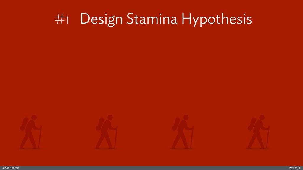 @sandimetz May 2018 #1 Design Stamina Hypothesis