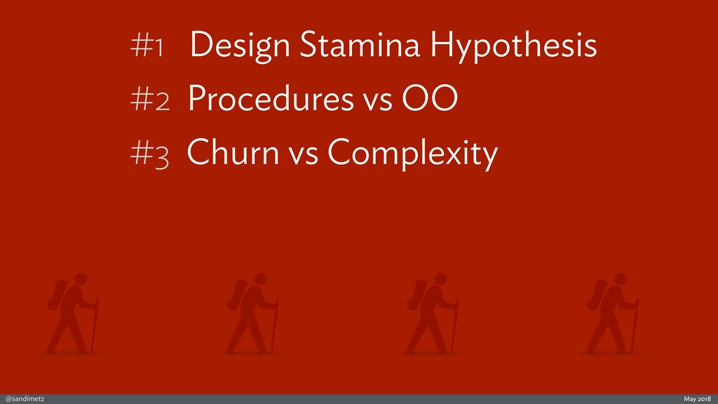 @sandimetz May 2018 #1 Design Stamina Hypothesi...
