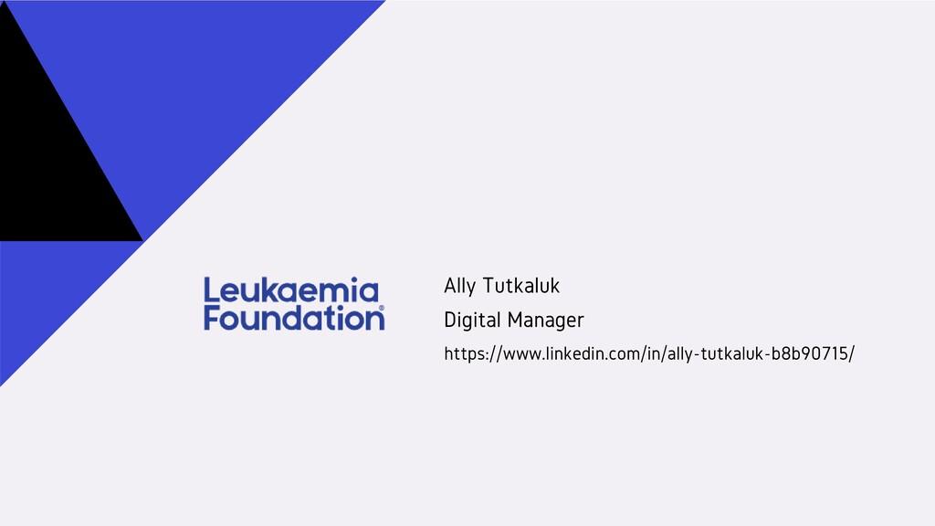 Ally Tutkaluk Digital Manager https://www.linke...