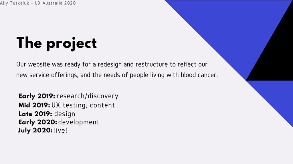 The project Ally Tutkaluk - UX Australia 2020 O...