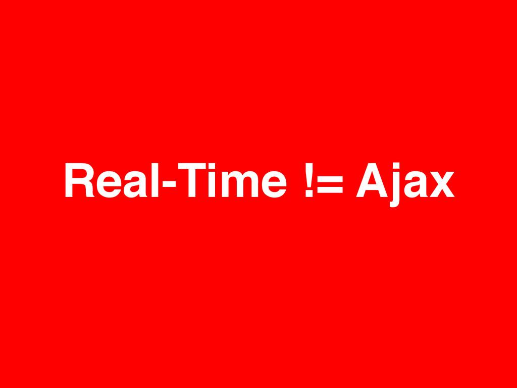 Real-Time != Ajax