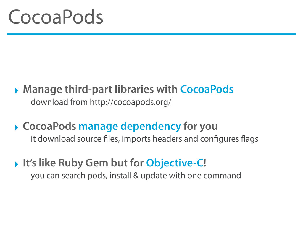 CocoaPods ‣ Manage third-part libraries with Co...