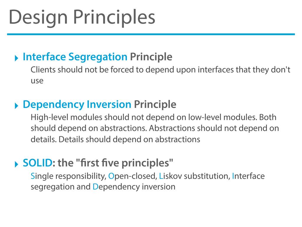 Design Principles ‣ Interface Segregation Princ...