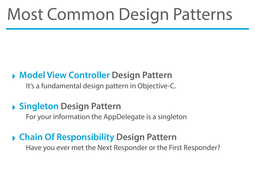 Most Common Design Patterns ‣ Model View Contro...