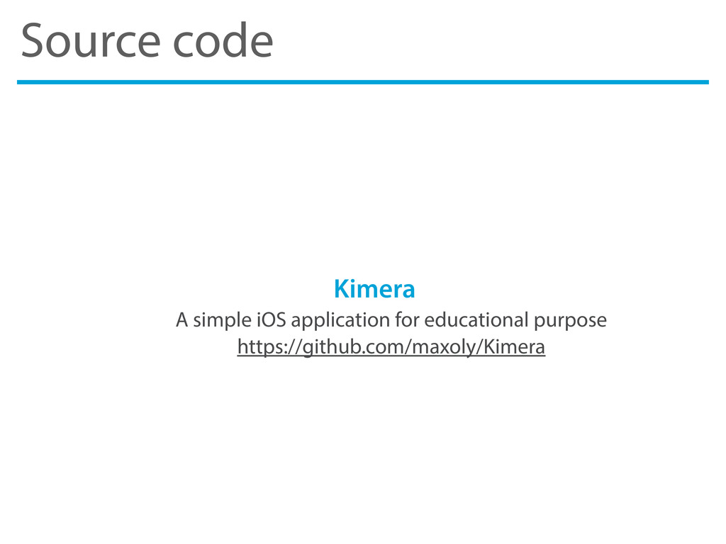 Source code Kimera A simple iOS application for...