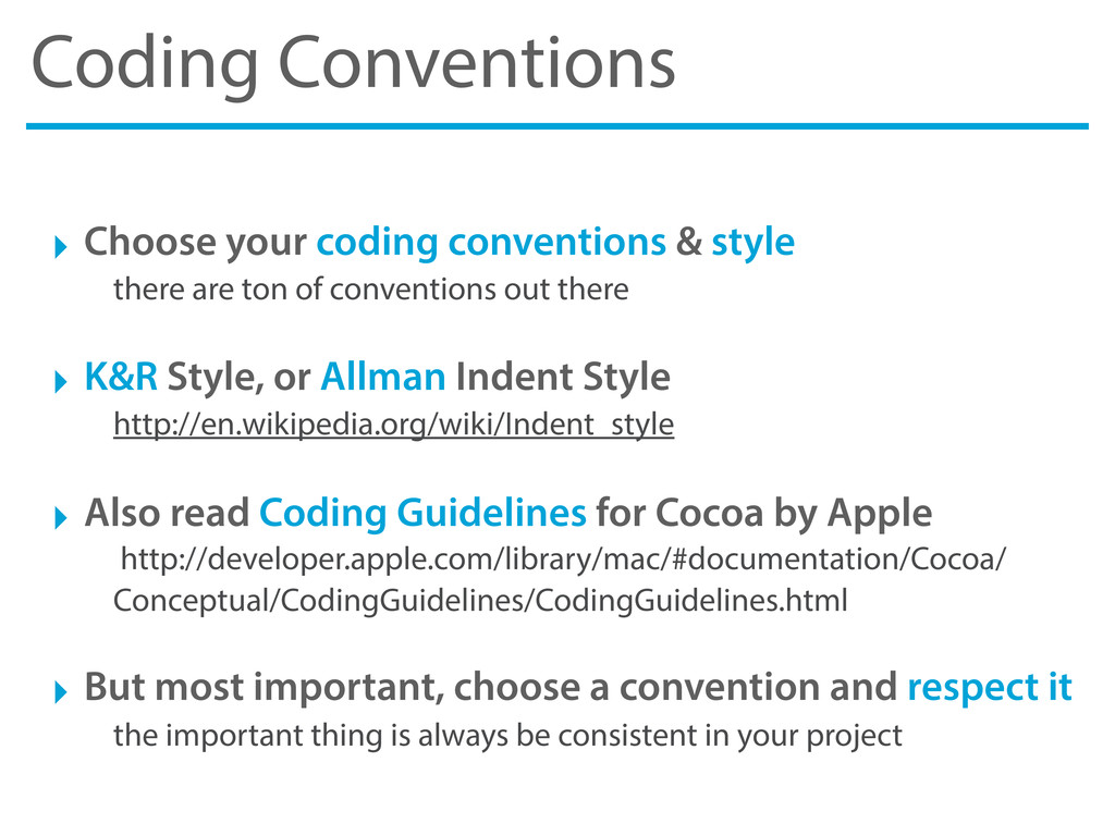 Coding Conventions ‣ Choose your coding convent...